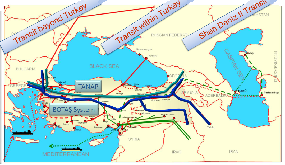 TURKEY INKS DEAL TO RAISE INVOLVEMENT IN TANAP AND SHAH DENIZ PROJECTS