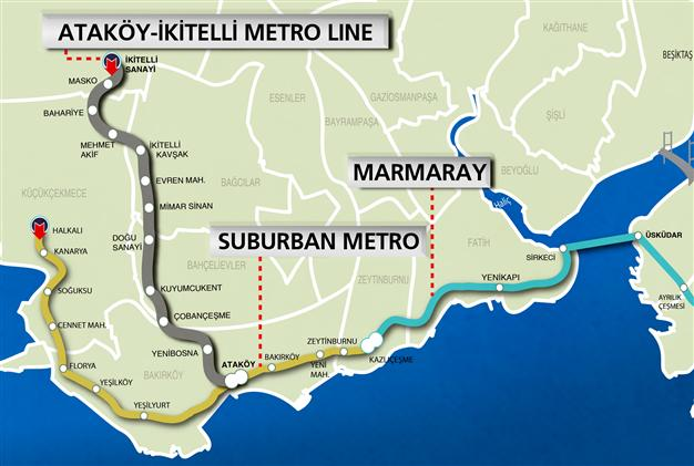 ISTANBUL TO OPEN TENDER FOR TWO NEW METRO LINES