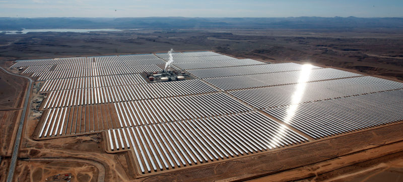 TSK, ACCIONA AND SENER INAUGURATE THE WORLD'S LARGEST SOLAR POWER PLANT IN MOROCCO