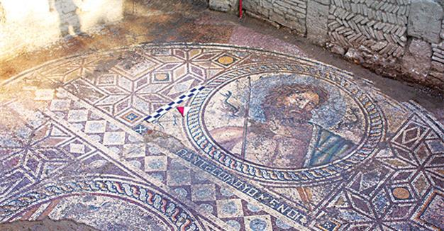 ANCIENT POSEIDON MOSAIC FOUND IN TURKEY, ADANA