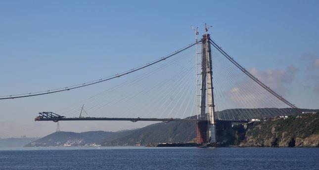 ISTANBUL'S THIRD BRIDGE NEARS COMPLETION