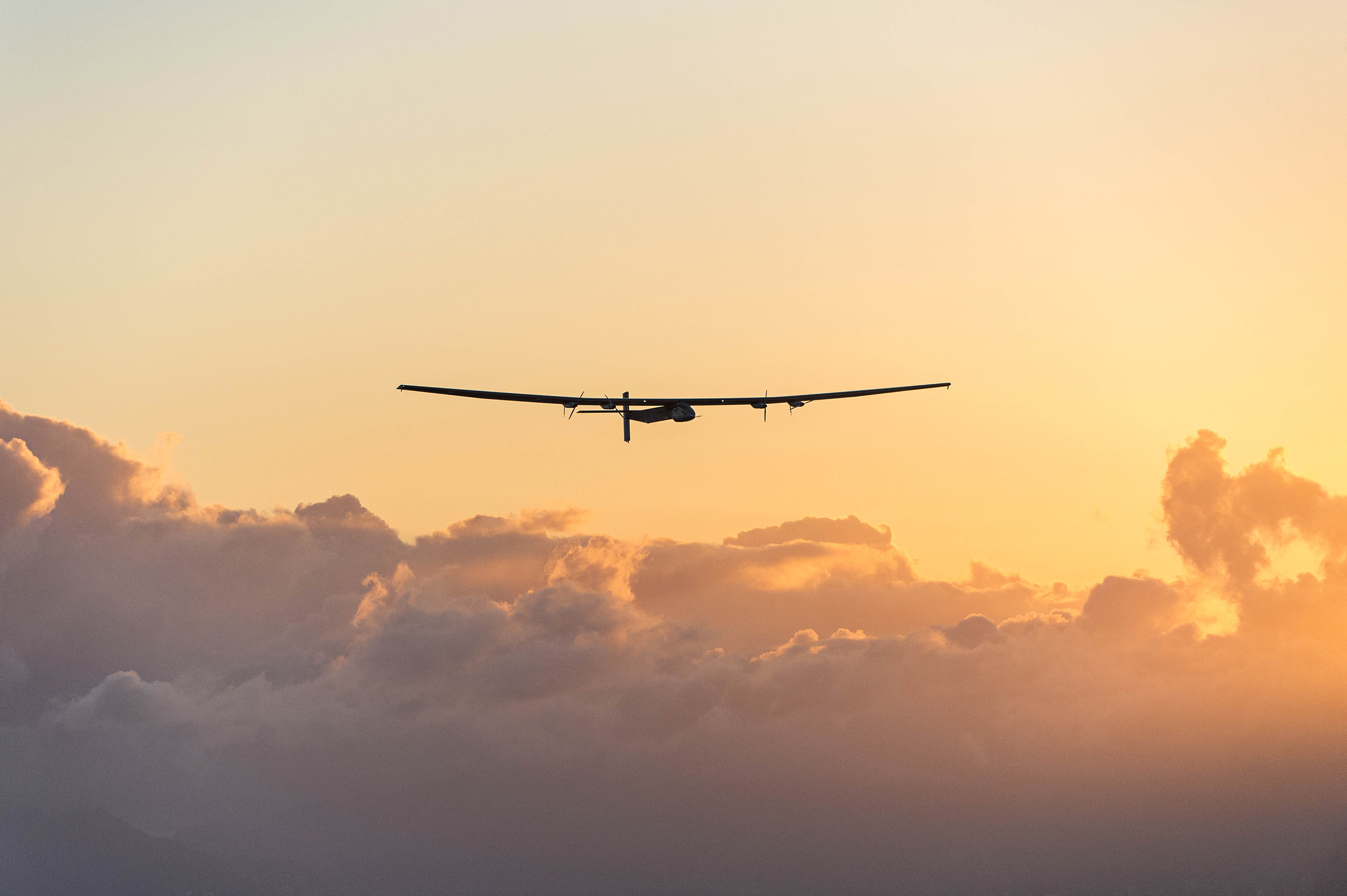 Bertrand Piccard training flight with Solar Impulse 2 in